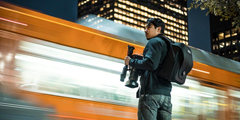 Teradek Bond Backpack in Use