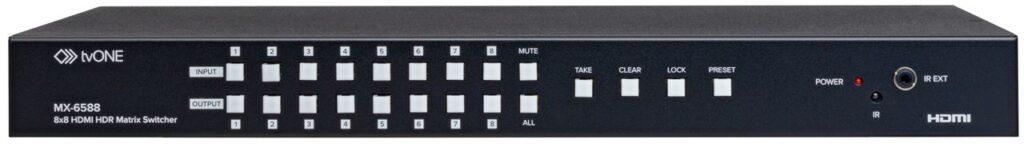 tvONE MX-6588 4k hdr hdmi 2 matrix switcher