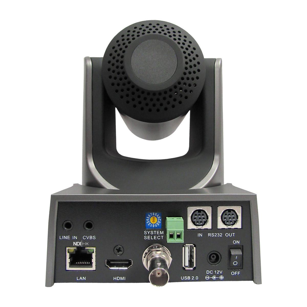PTZOptics 12x NDI PTZ Camera (Grey) PT12X-NDI-GY