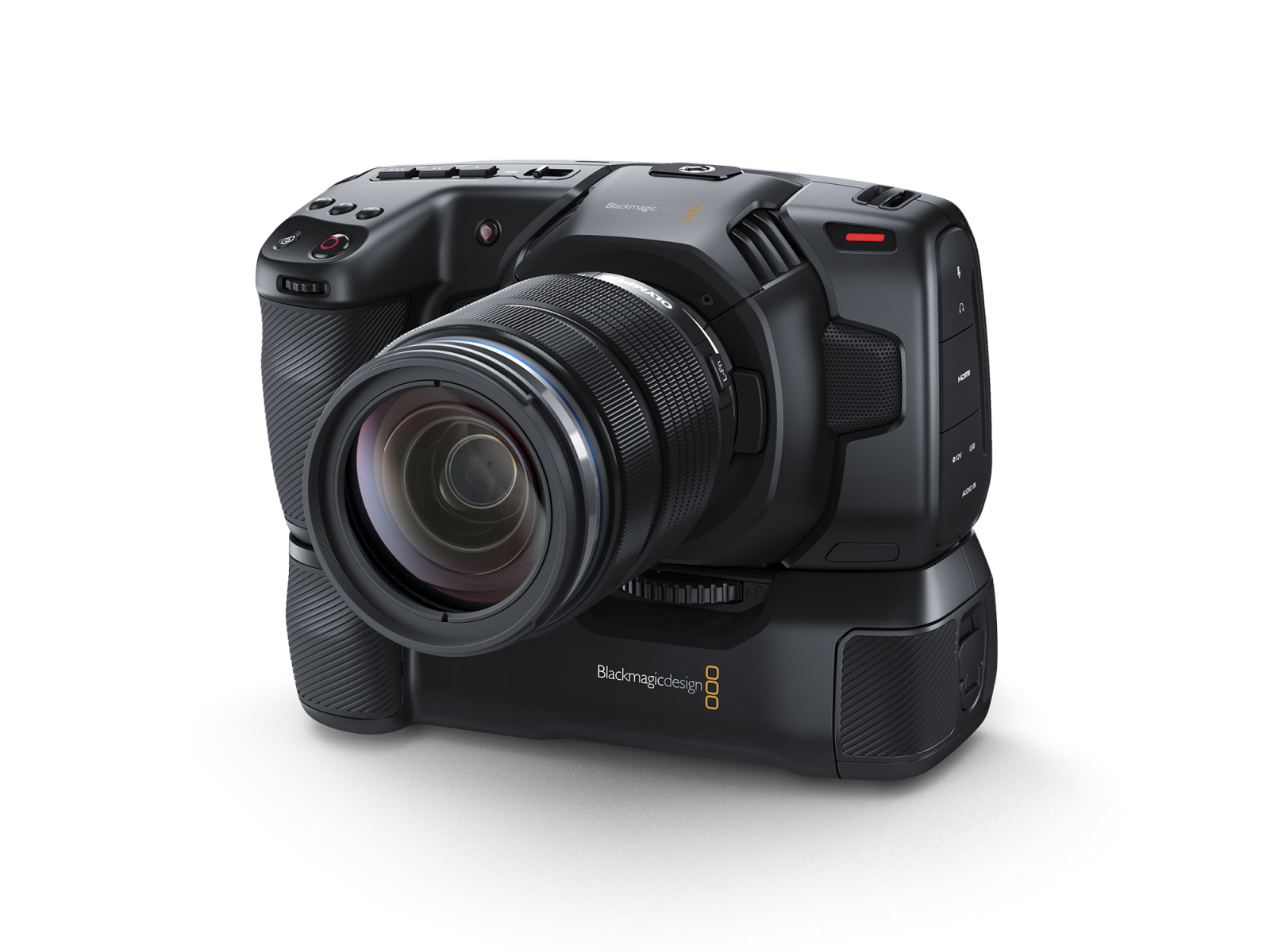 Blackmagic Pocket Battery Grip and Camera
