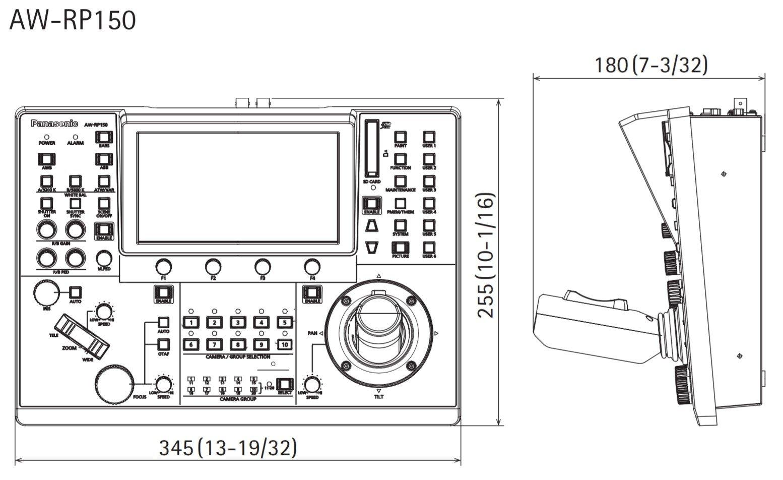 Panasonic AW-RP150 Dimensions