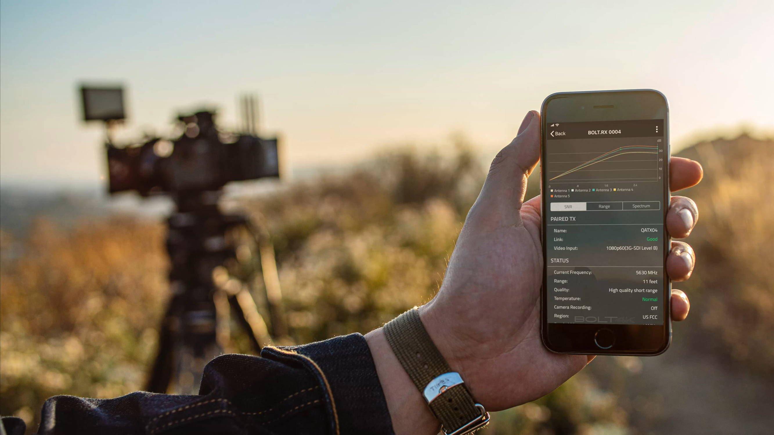 Teradek Bolt 4K iOS App