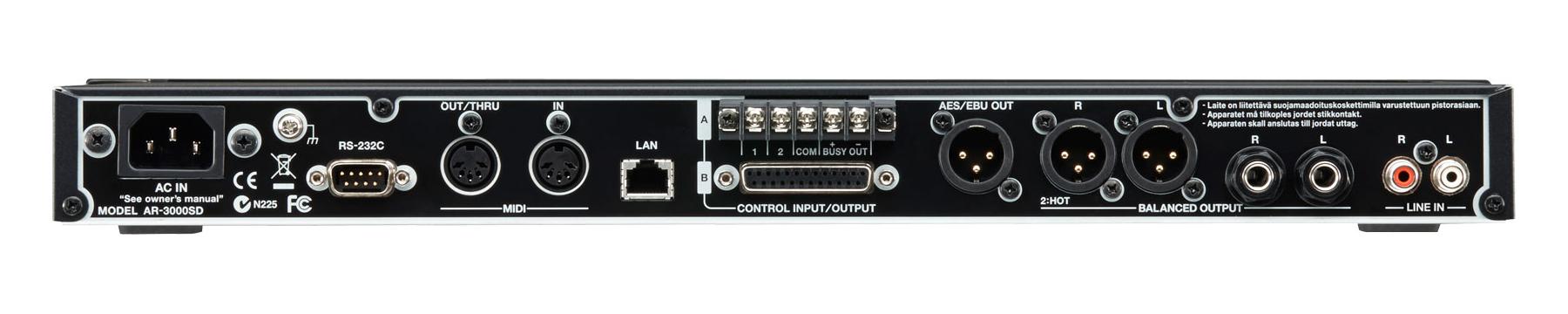 Roland AR-3000SD Rear Connectors