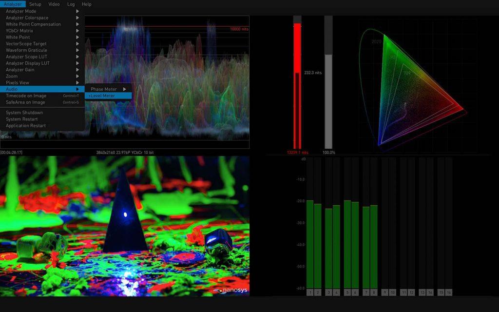AJA HDR Image Analyzer 12G Audio Metering