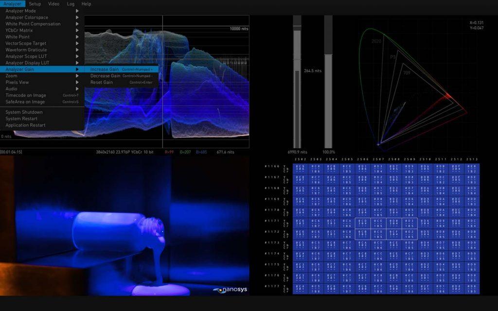 AJA HDR Image Analyzer 12G Gain