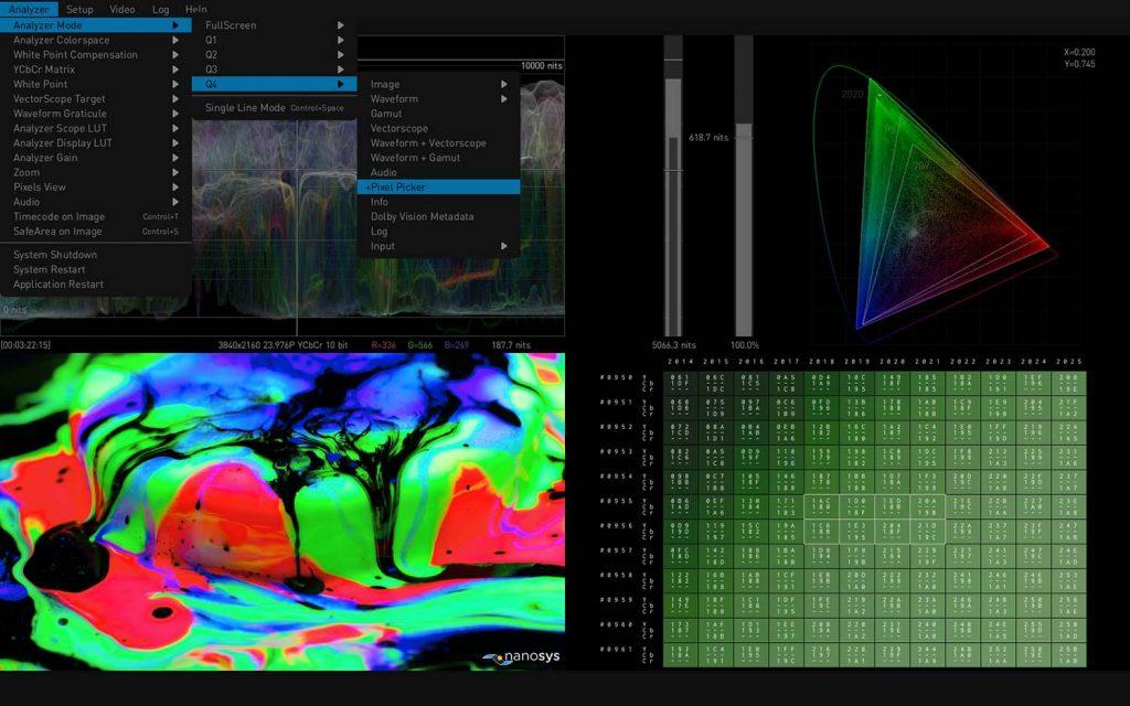 AJA HDR Image Analyzer 12G Pixel Picker