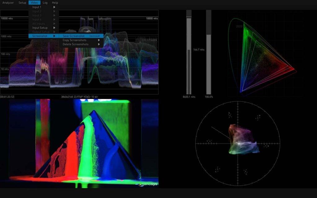 AJA HDR Image Analyzer 12G Scene Capture