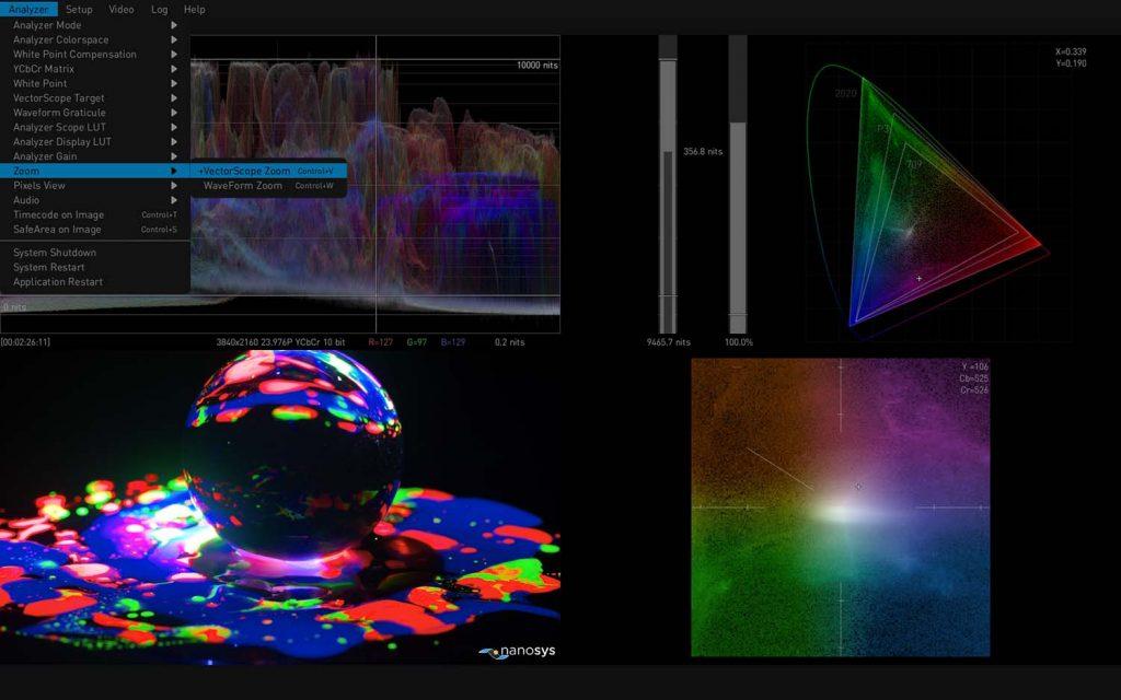 AJA HDR Image Analyzer 12G Vectorscope