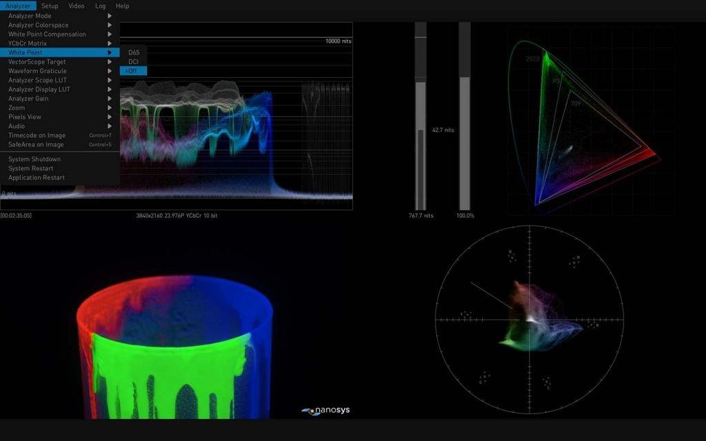 AJA HDR Image Analyzer 12G White Point